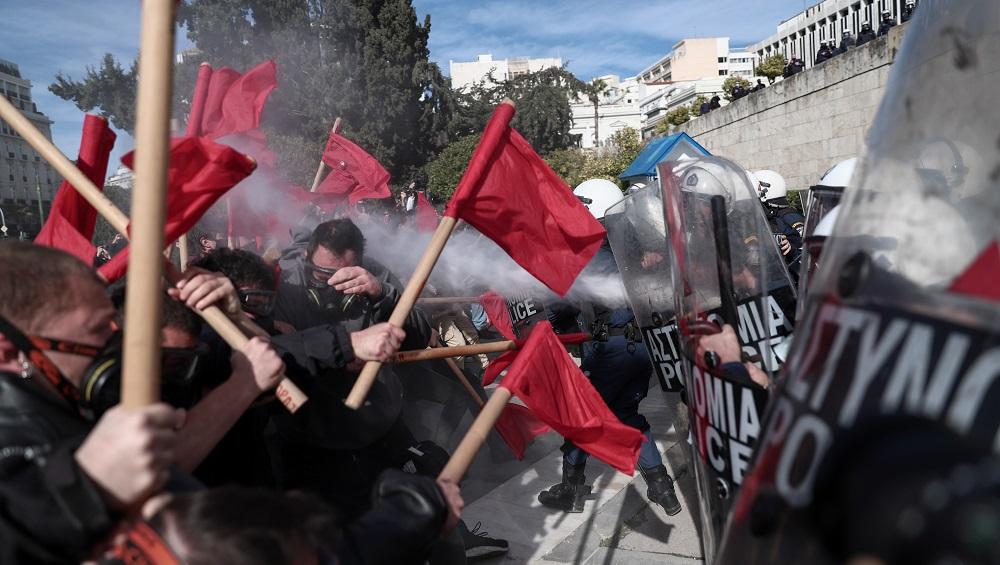 Συλλαλητήριο επεισόδια b 10.02.2021