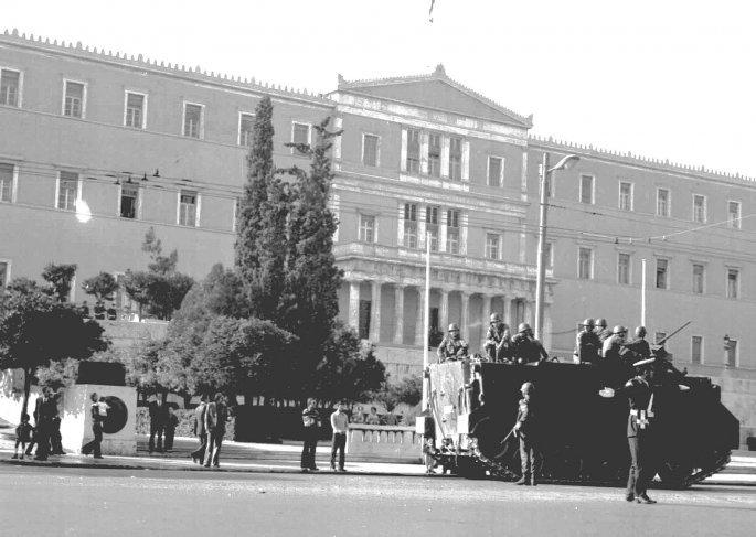 21η Απριλίου 1967 στη Βουλή