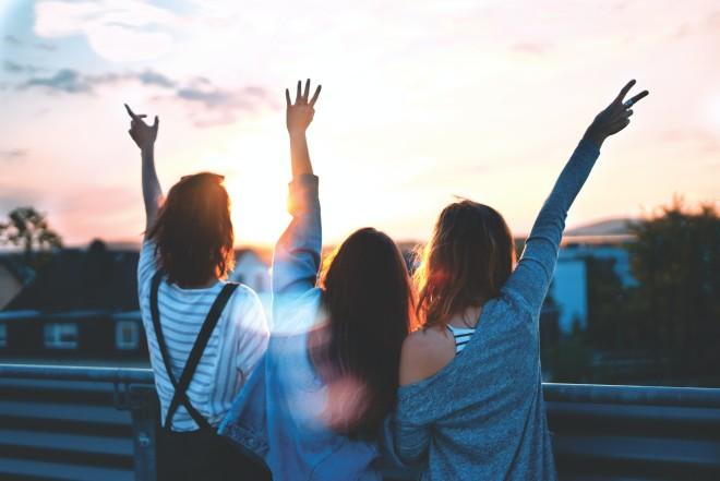 παρέα φίλων κοριτσιών